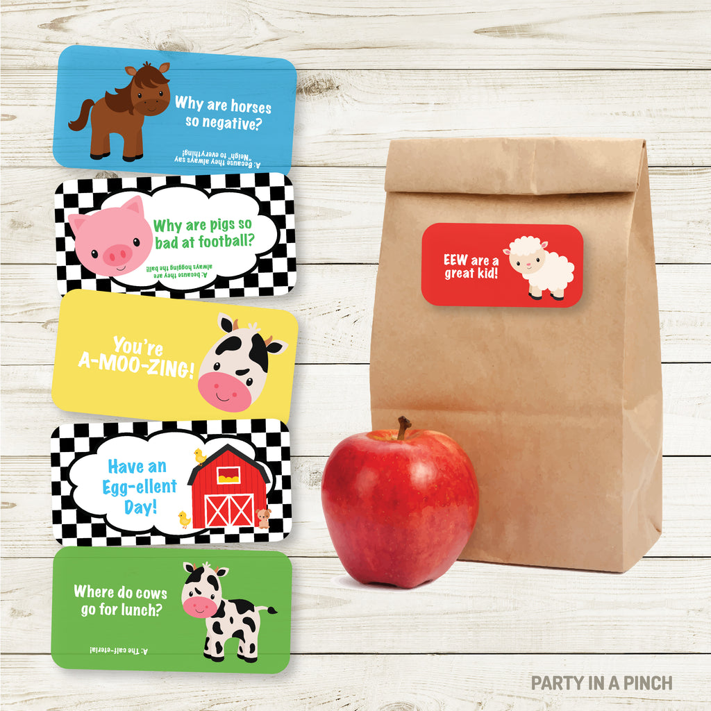 Farm Lunchbox Stickers| Lunch Notes