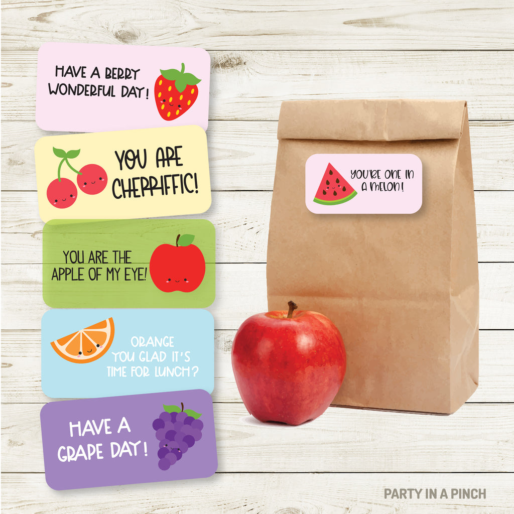 Fruit Lunchbox Stickers| Lunch Notes