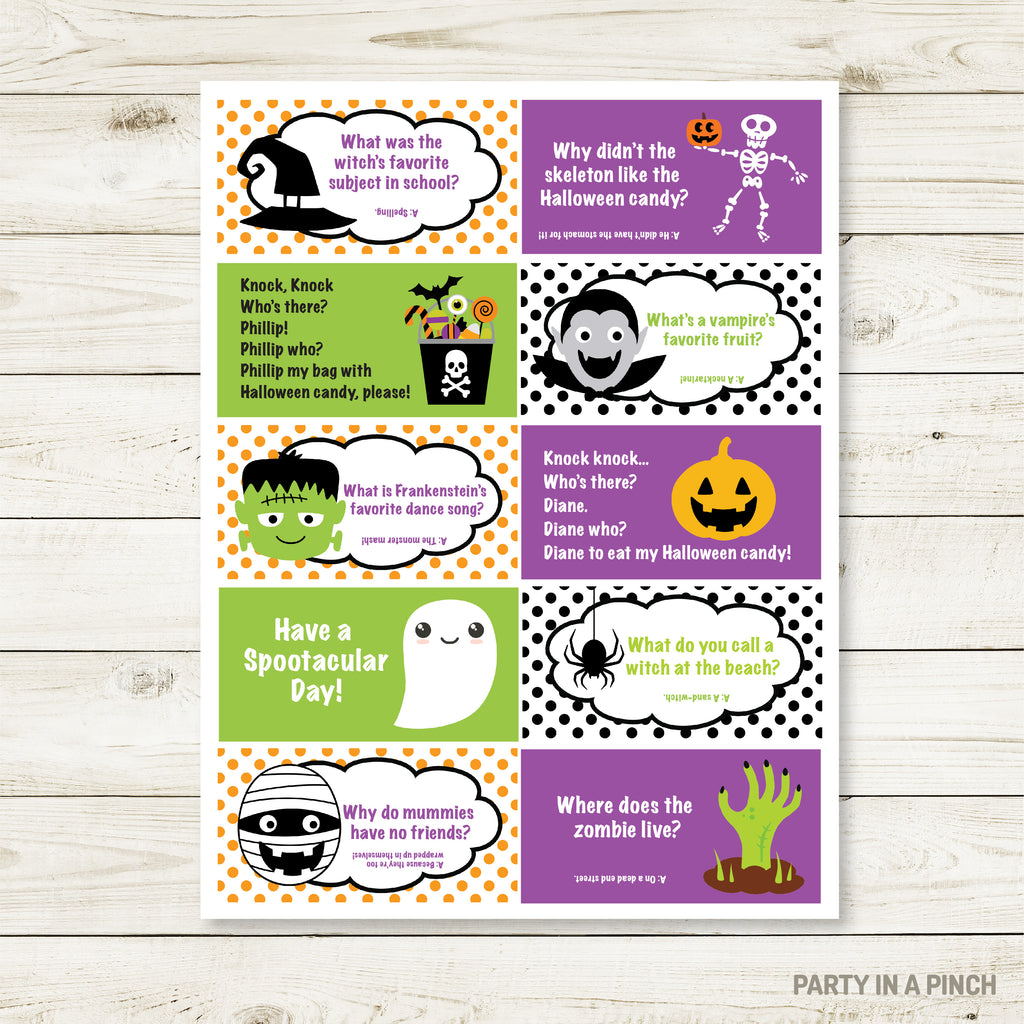 Halloween Lunchbox Stickers| Lunch Notes