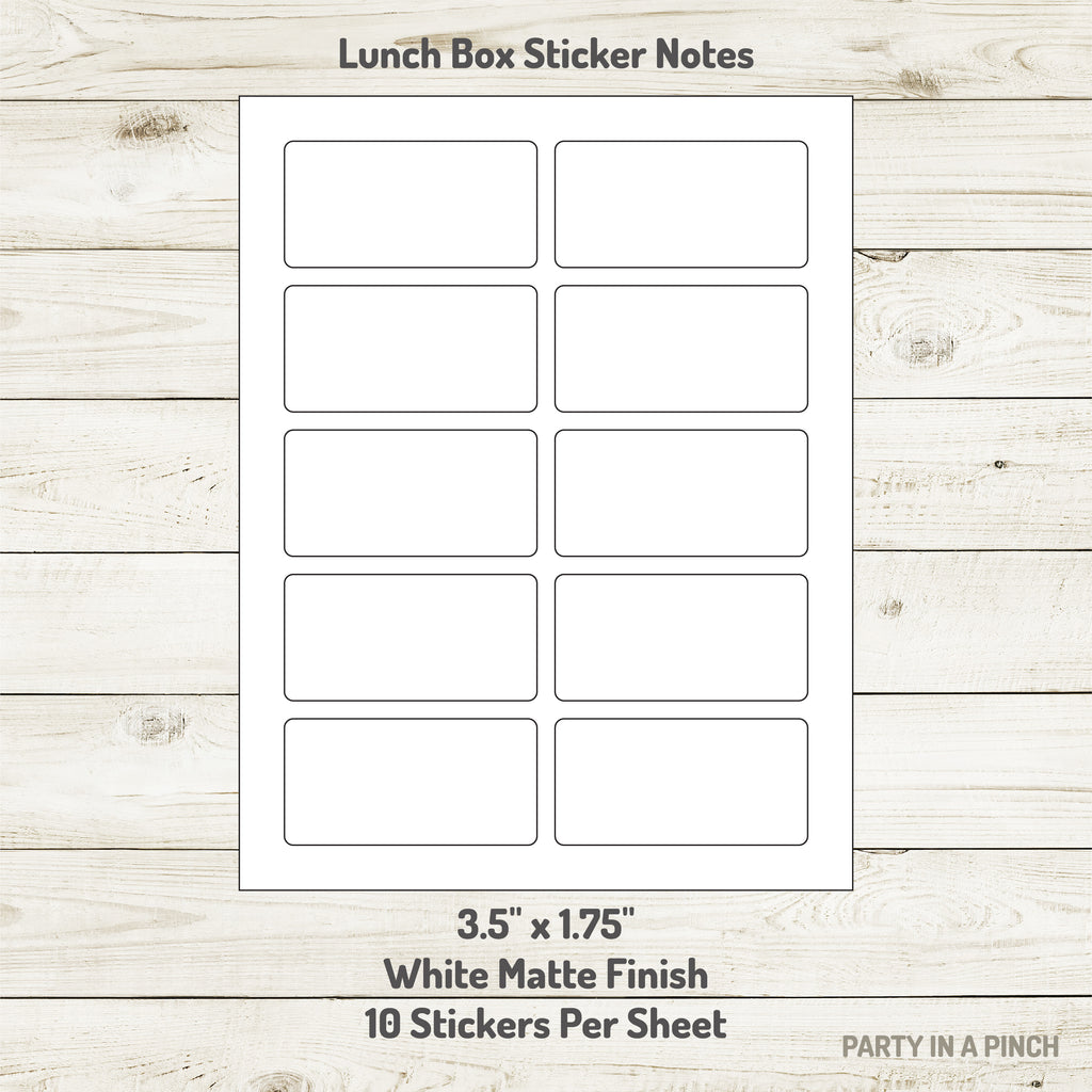 Junk Food Lunchbox Stickers| Lunch Notes
