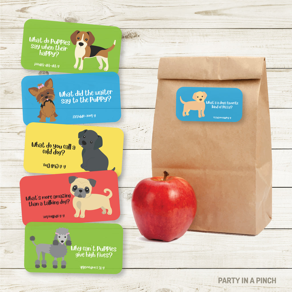 Puppy Lunchbox Stickers| Lunch Notes