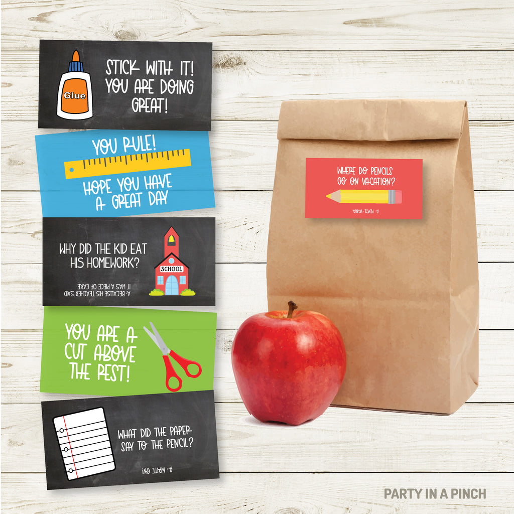 School Lunchbox Stickers| Lunch Notes