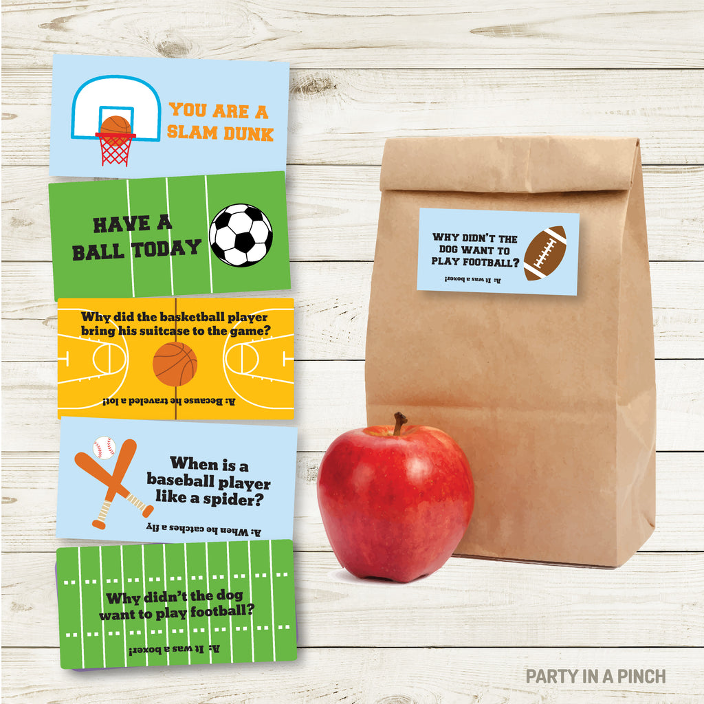 Sport Lunchbox Stickers| Lunch Notes