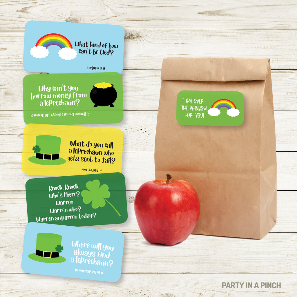 St. Patrick's Day Lunchbox Stickers| Lunch Notes