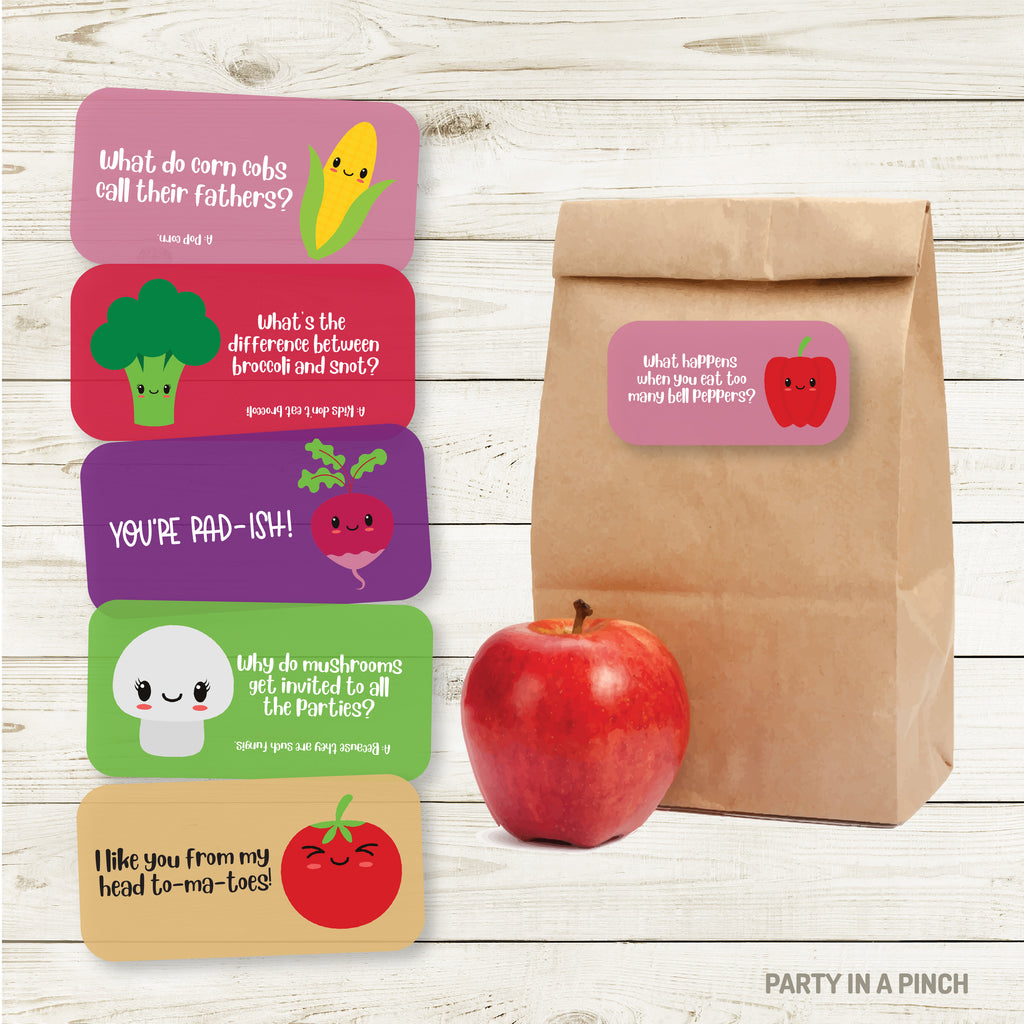 Veggie Lunchbox Stickers| Lunch Notes