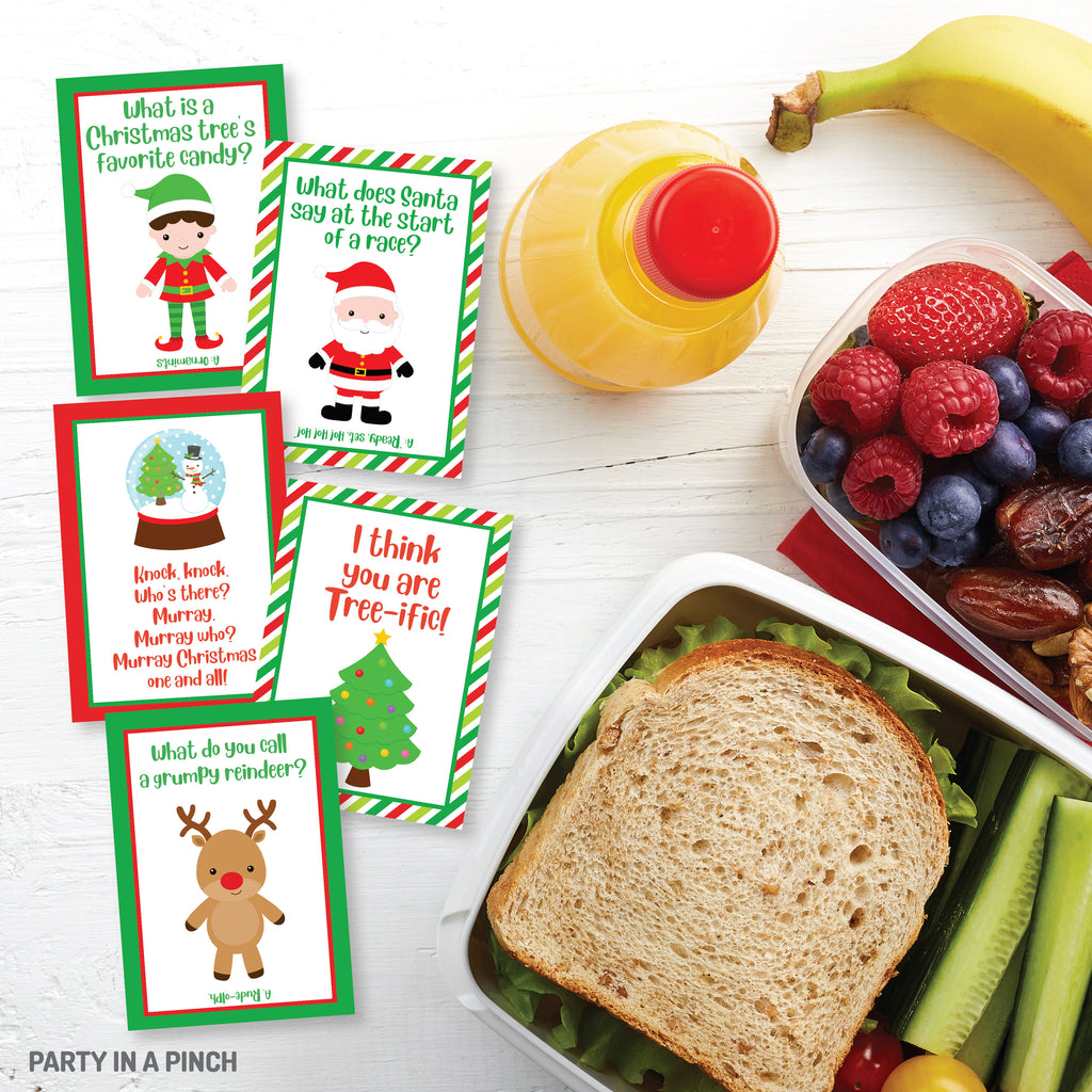 Christmas Lunch Box Notes| Instant Download