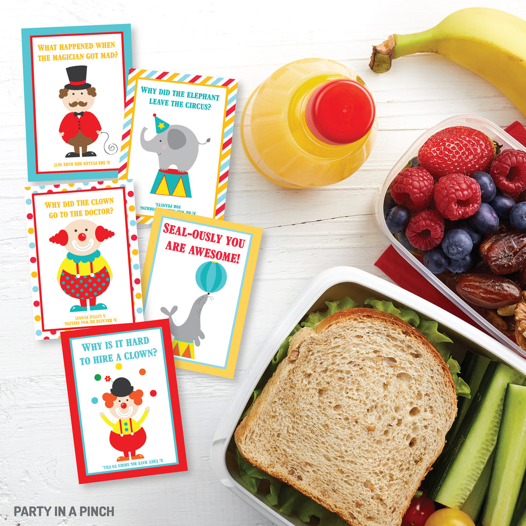 Circus Lunch Box Notes| Instant Download