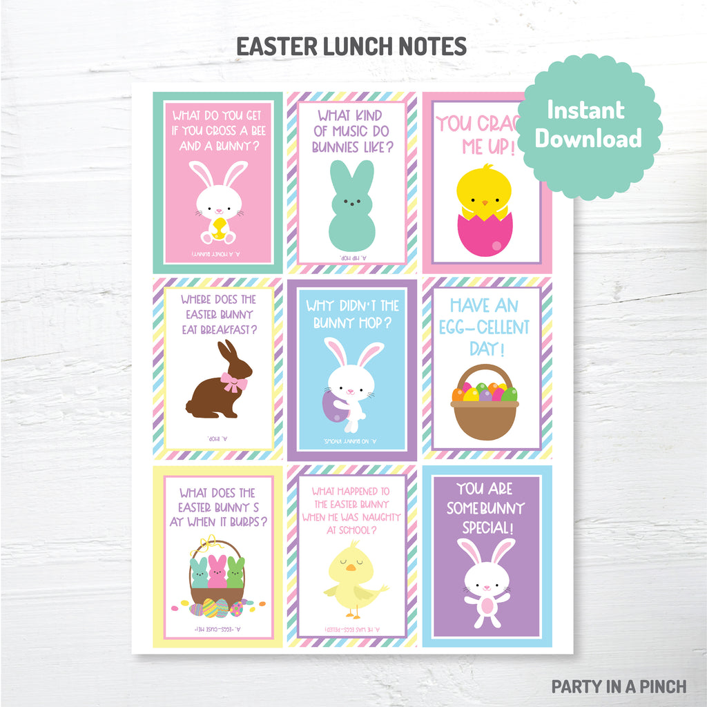 Easter Lunch Box Notes| Instant Download