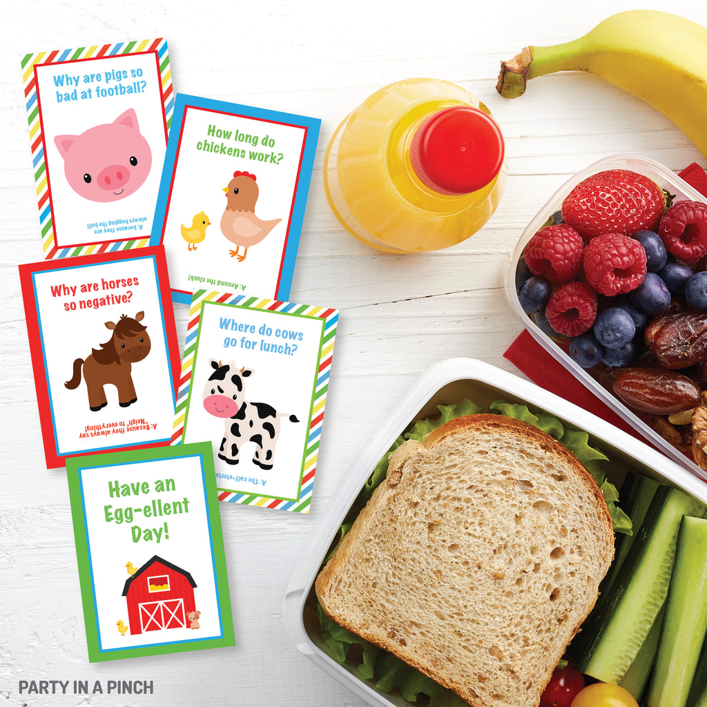 Farm Animal Lunch Box Notes| Instant Download