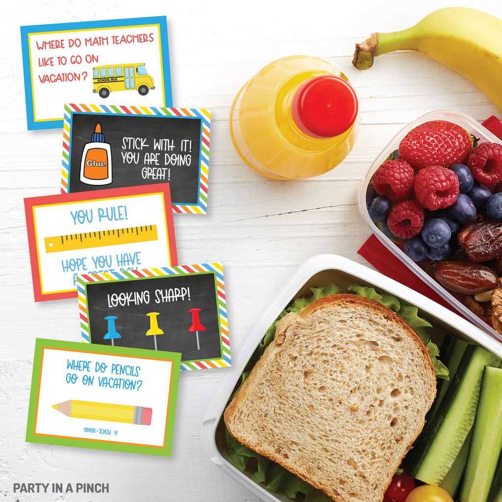 School Time Lunch Box Notes| Instant Download