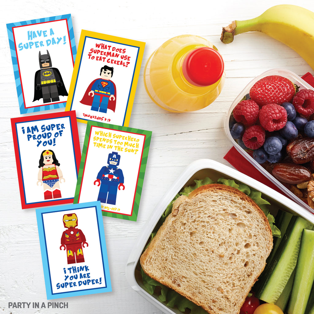 Superhero Lunch Box Notes| Instant Download