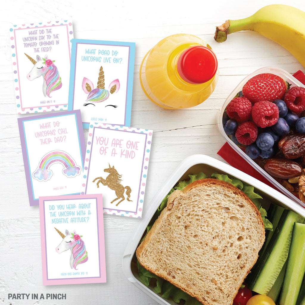 Unicorn Lunch Box Notes| Instant Download
