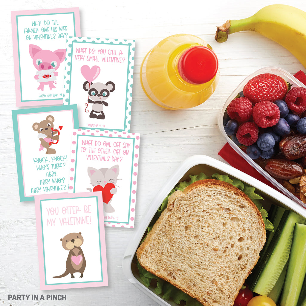 Valentine's Day Lunchbox Notes| Instant Download