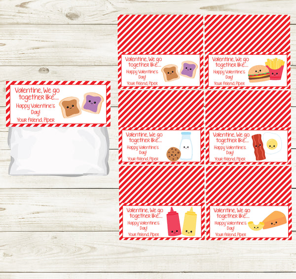 PERFECT PAIRS VALENTINE'S DAY PRINTABLE TREAT BAG TOPS