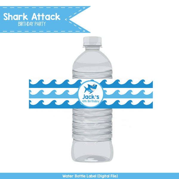 Shark Attack Water Bottle Wraps