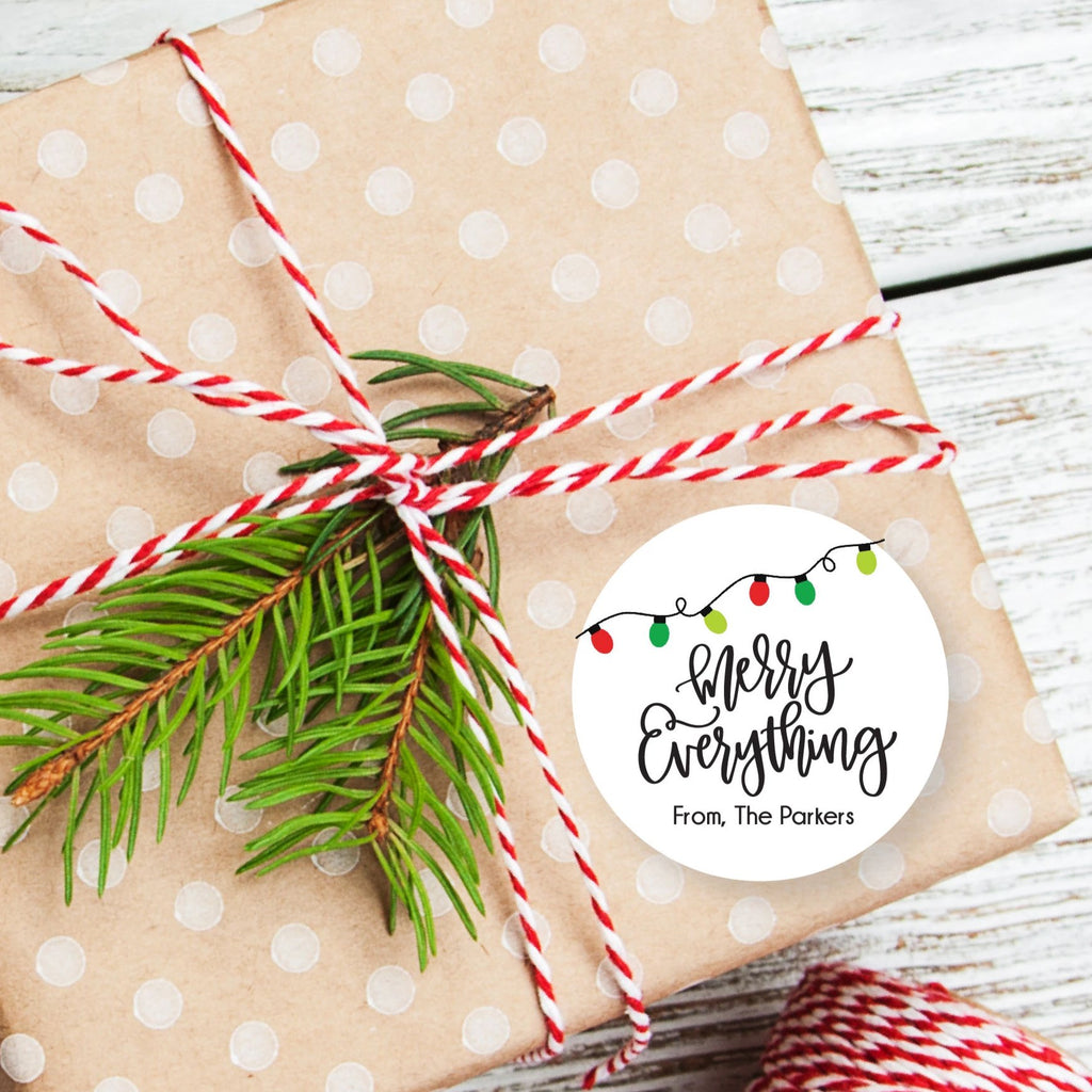 Christmas Merry Everything Favor Sticker Set 2.5"