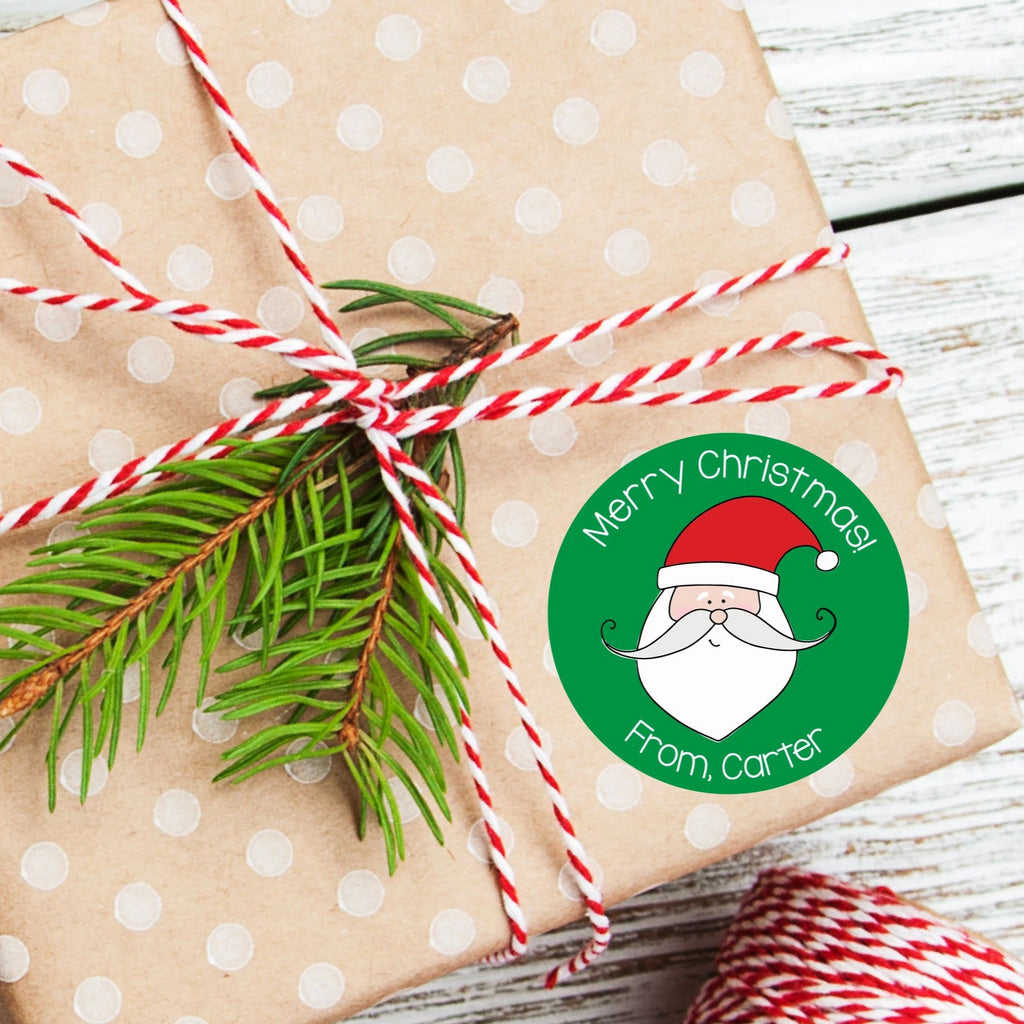 Christmas Santa Favor Sticker Set 2.5"