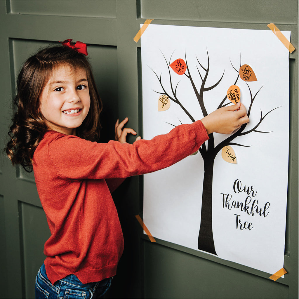 Thankful Tree Poster and Stickers