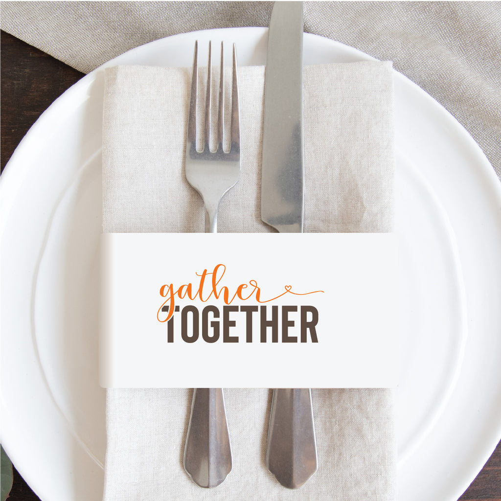 Thanksgiving Napkin Wraps- Gather Together