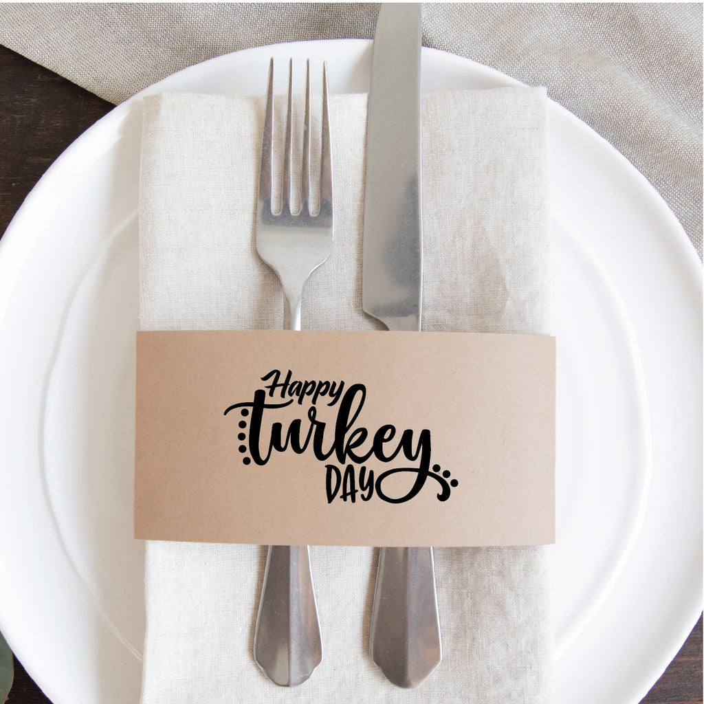 Thanksgiving Napkin Wraps- Happy Turkey Day