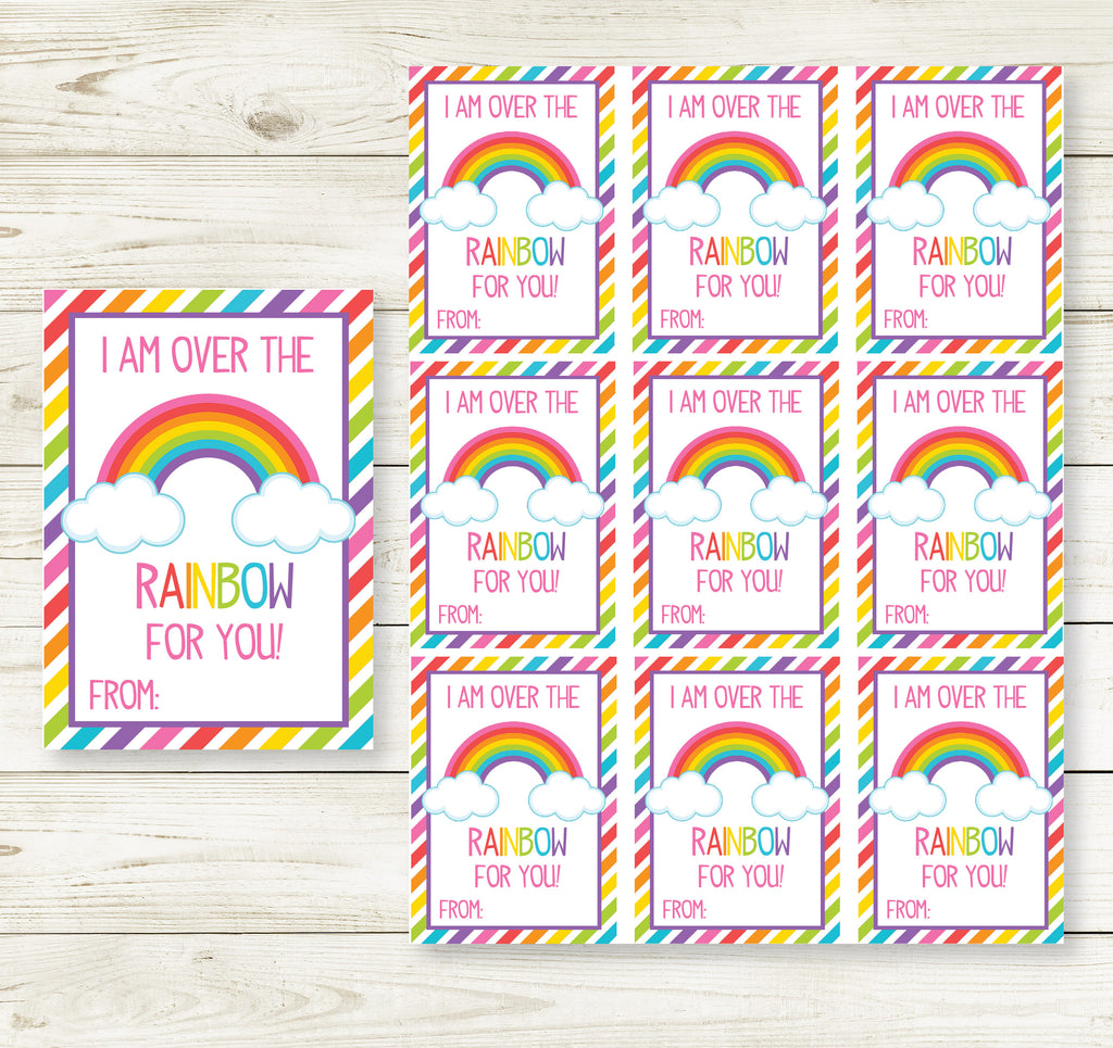 RAINBOW VALENTINE'S DAY PRINTABLE CARDS