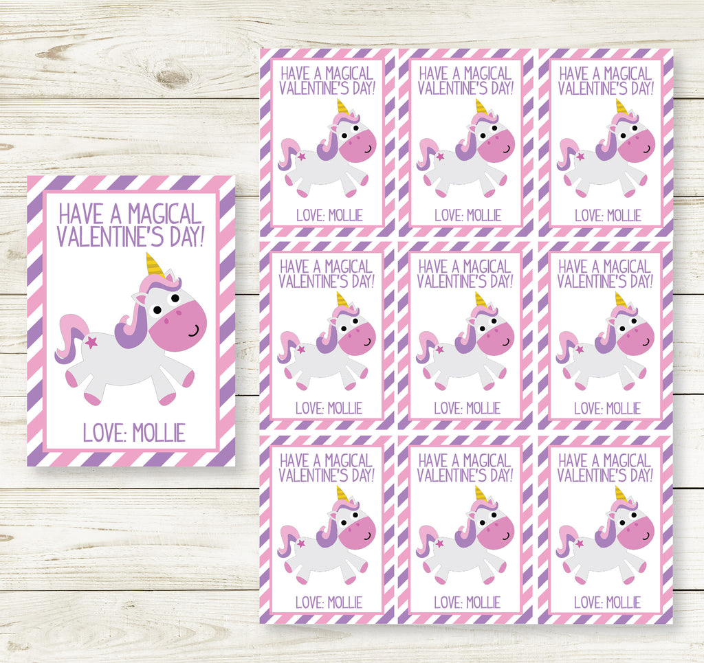 UNICORN VALENTINE'S DAY PRINTABLE CARDS