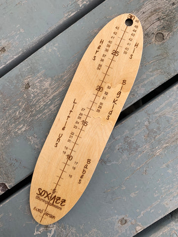 Not Quite Perfect Euro/UK Soxyzz!! Foot Measuring Tool ©