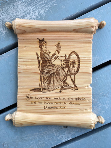 Carved Scroll Plaque