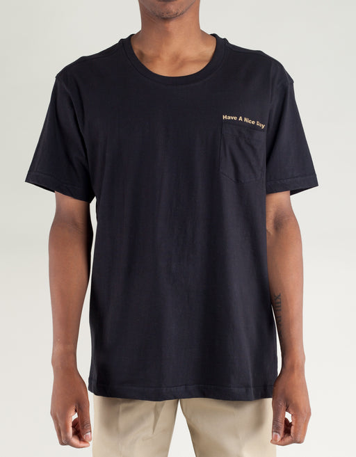 Canal NYC Thank you Pocket Tee Black