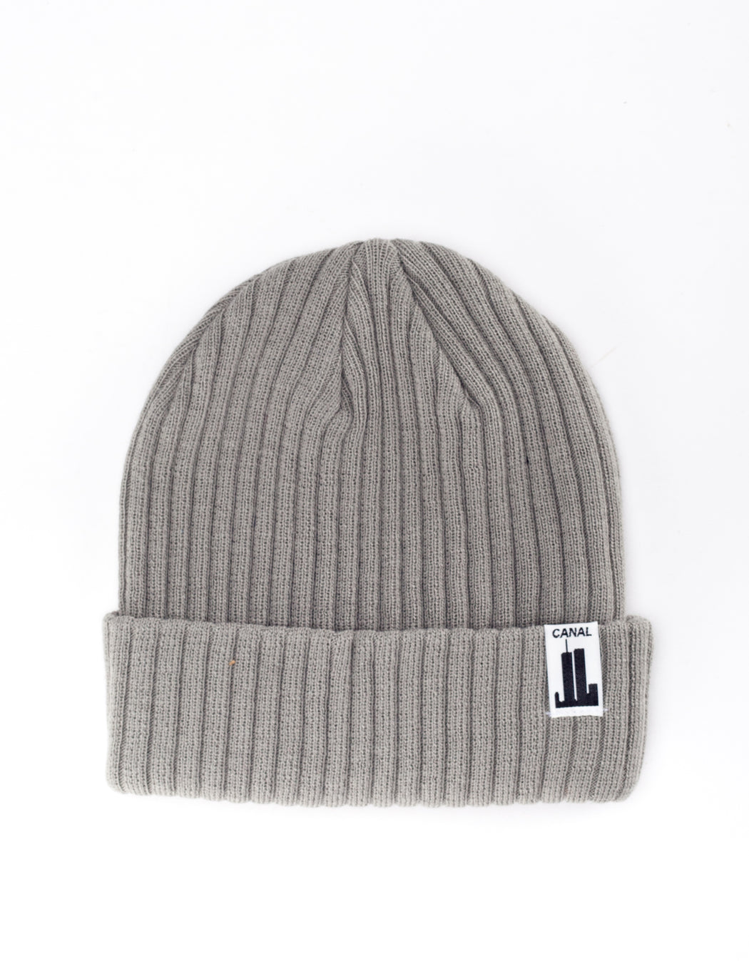 Canal NYC Towers Ribbed Beanie Steel