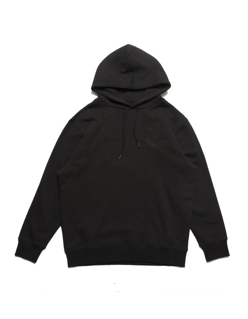 Chrystie Smile Logo Fleece Hoodie Black