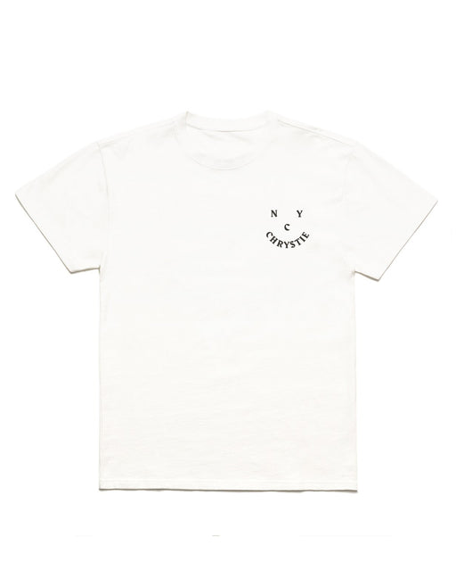 Chrystie Smile Logo Tee White