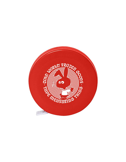 Cold World Cold Bunny Tape Measure Red