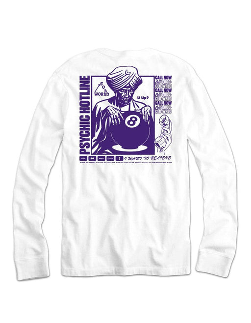 Cold World Psychic LS Tee White
