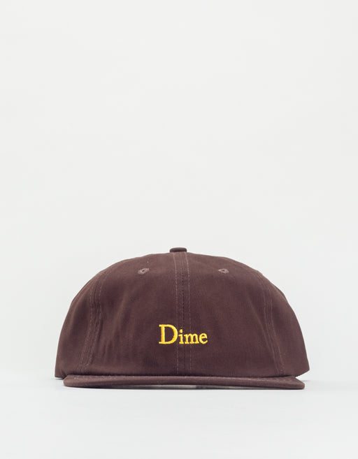 Dime Classic 6 Panel Hat Brown