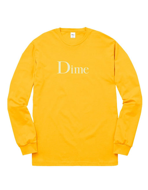 Dime Classic Logo L/S Tee Gold