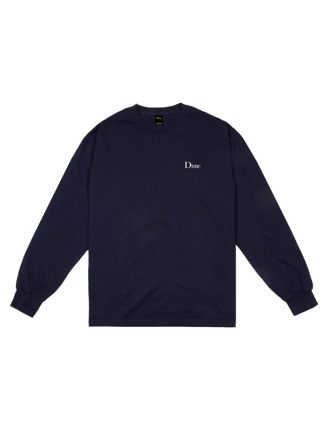 Dime Classic Logo L/S Tee Navy