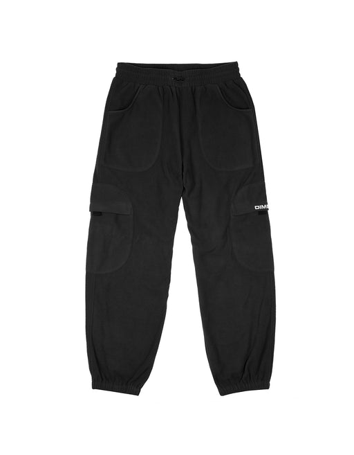Dime Fleece Round Cargo Pants Black