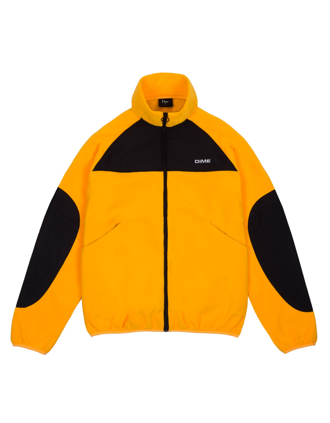 Dime Polar Fleece Track Jacket Black Gold