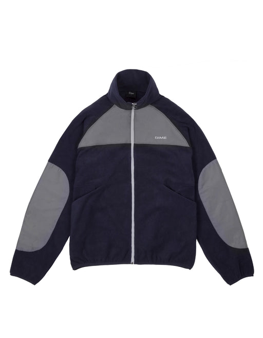 Dime Polar Fleece Track Jacket Navy Charcoal