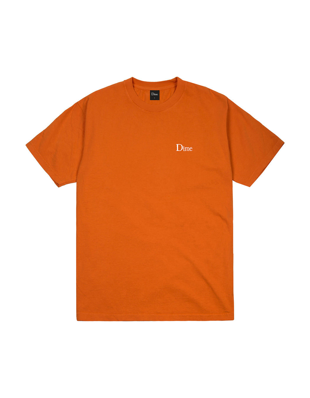 Dime Classic Small Logo Tee in Burnt Orange