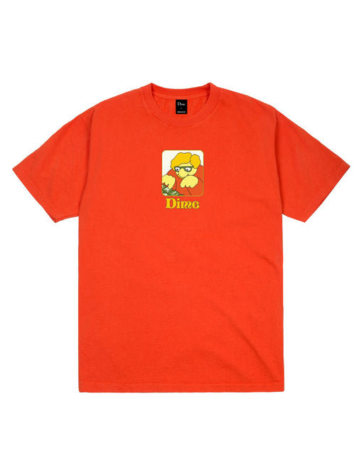Dime Typo Tee Bright Orange