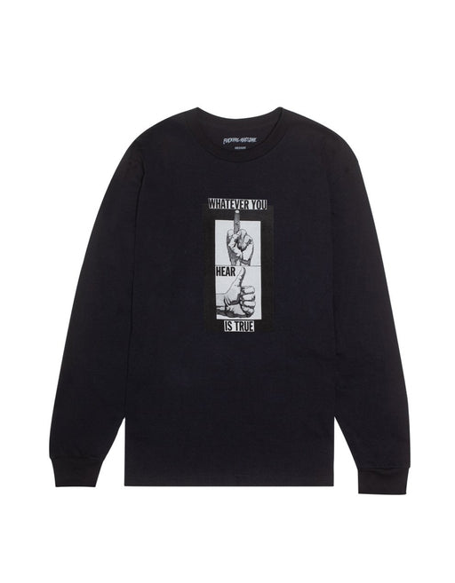 FA Fingers Up LS Tee Black