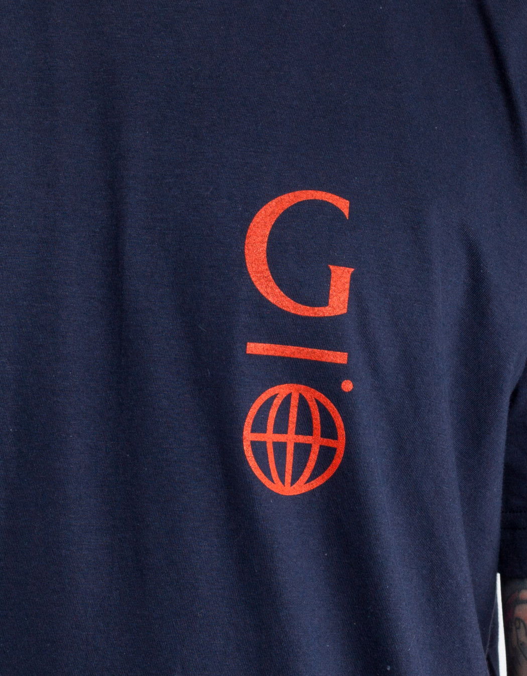 Goodnews Globe Logo Tee Navy