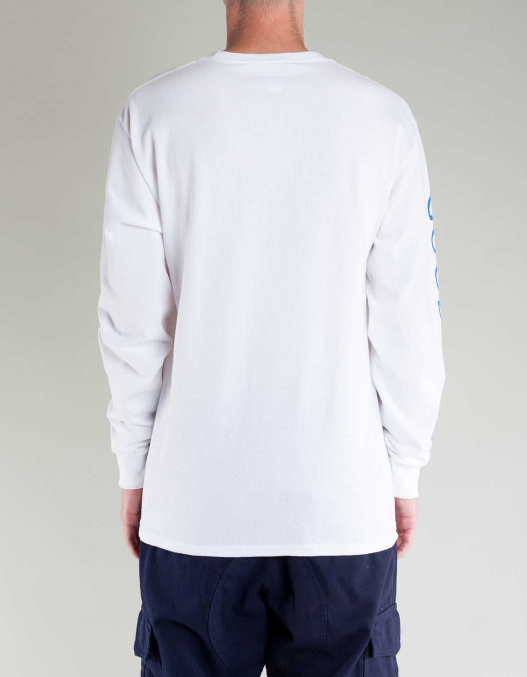 Goodnews Champion LS Globe Logo Tee White