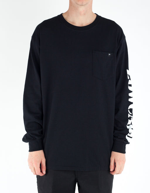 Low Card The Pocket Long Sleeve Tee Black
