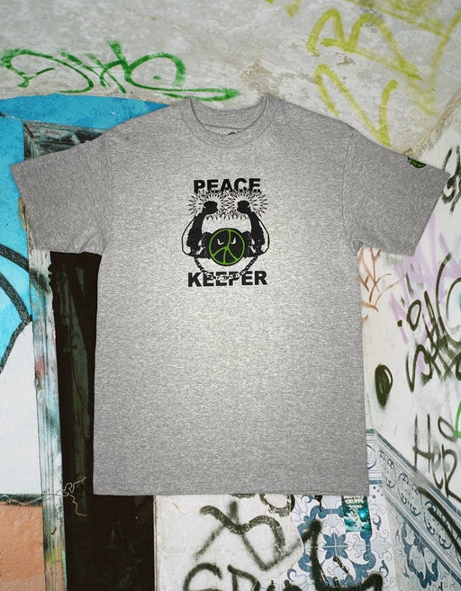 Goodnews Peace Keeper Tee, Heather Grey