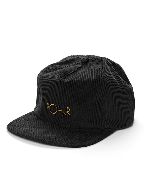 Polar Cord 5 Panel Hat Black