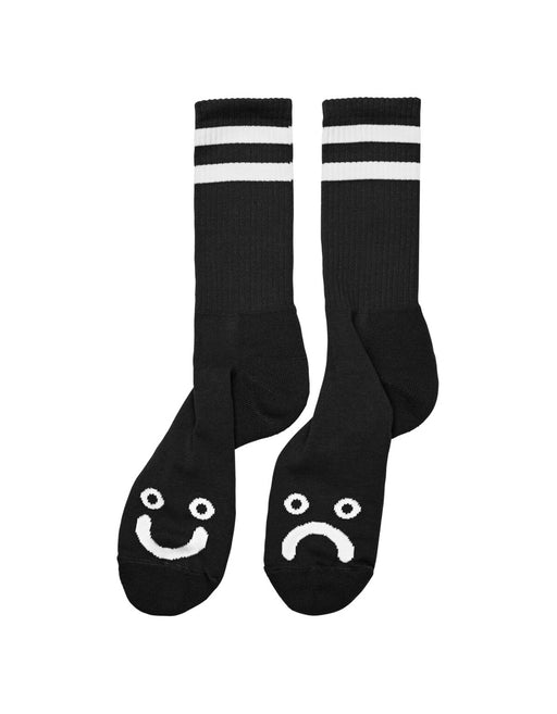 Polar Upside Down Happy Sad Socks Black