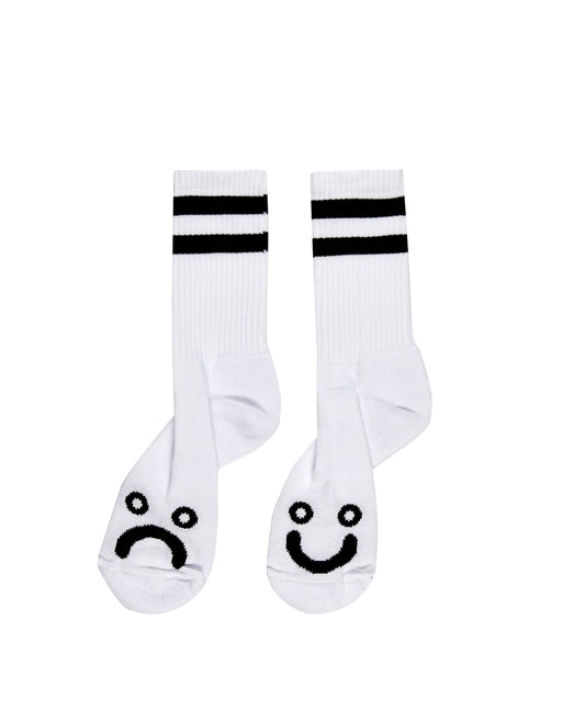 Polar Happy Sad Socks White Black